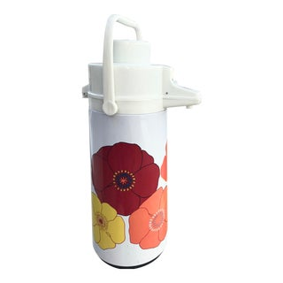 1970s Mod Floral Thermos For Sale
