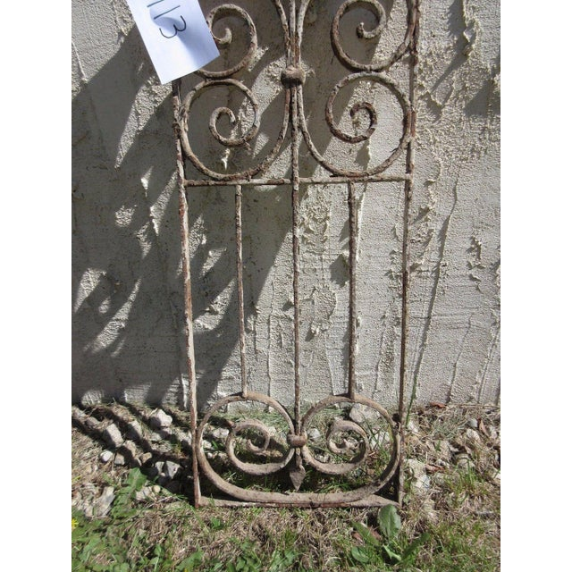 Antique Victorian Iron Gate Architectural Element For Sale - Image 4 of 6