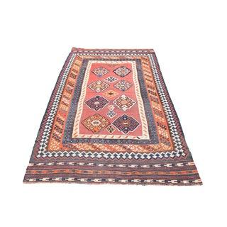 Vintage Persian Gashgai Kilim Flatweave Rug - 5′3″ × 9′1″ For Sale