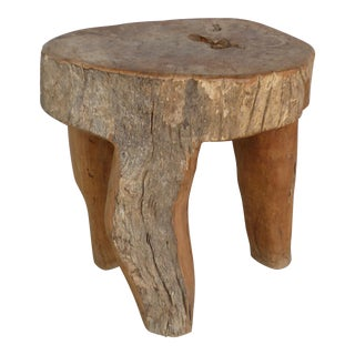 Three Legged Organic Modern Table or Stool From the Marché Aux Puces De St-Ouen