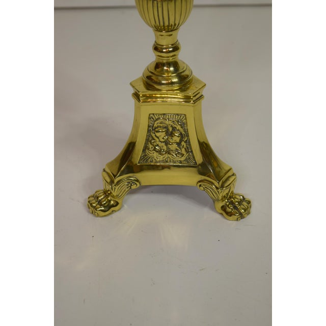 19th-Century French Brass Altar Sticks (Pair) For Sale - Image 4 of 8