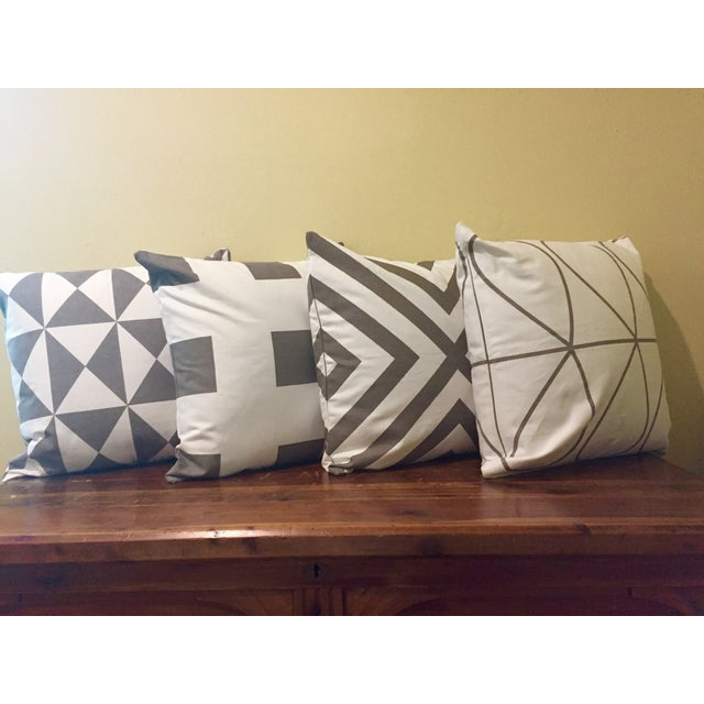 Gray & White Geometric Pillows - Set of 4 - Image 2 of 11