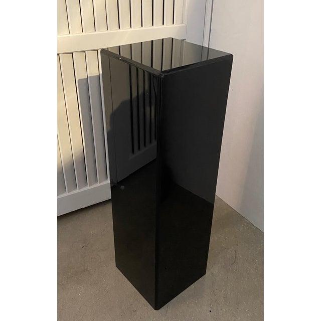 """Vintage Pedestal Black Lucite 26.5"""" High For Sale - Image 11 of 12"""