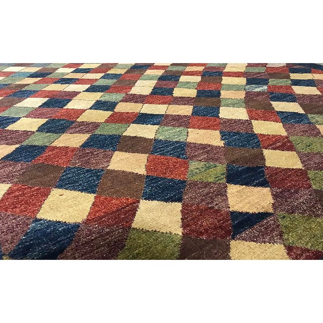 """Contemporary Hand Woven Rug 3'10"""" X 6'4"""" - Image 2 of 4"""