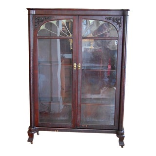 Late 19th Century Traditional Mahogany Display Cabinet For Sale