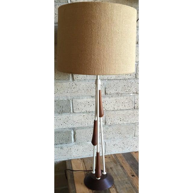 Vintage Mid Century Danish Teak Lamp - Image 6 of 10