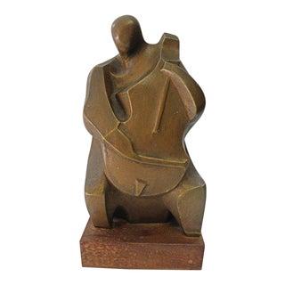 1960s Vintage Irving Amen Contemporary Cellist Sculpture