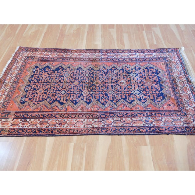 Islamic Vintage Persian Malayer Wool Rug - 3′9″ × 7′ For Sale - Image 3 of 5