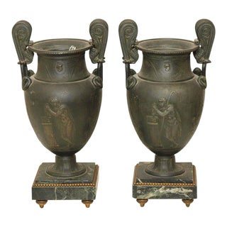 French Garniture Urns - A Pair For Sale
