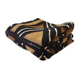 "Bogolan Mali Mud Cloth Textile 44"" by 62"" For Sale"
