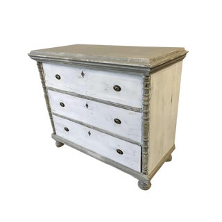 Antique Swedish Painted 3-Drawer Commode, 1850s