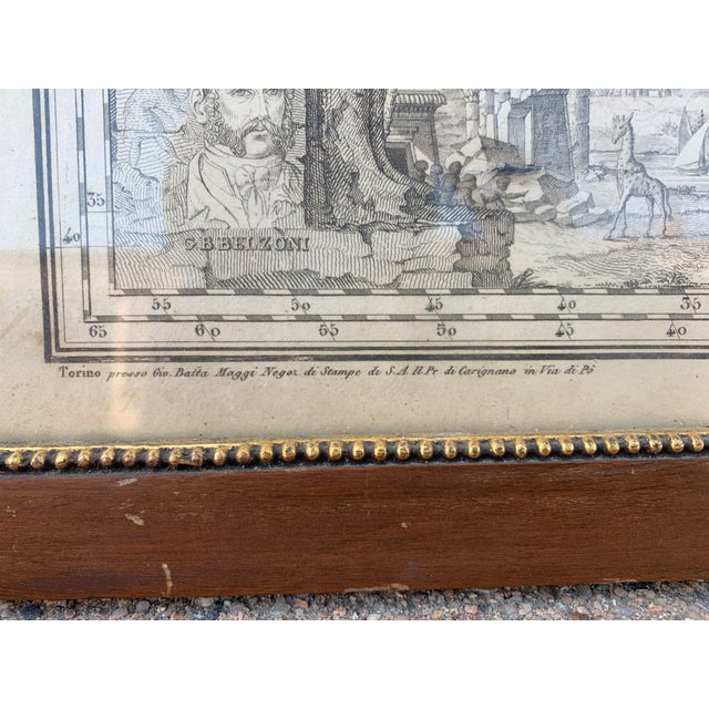 Italian Framed Printed and Hand Colored Map of Africa For Sale - Image 11 of 13