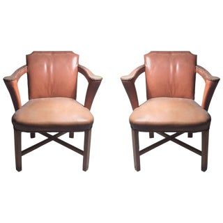 Vintage Syrie Maugham Lounge Occasional Armchairs For Sale
