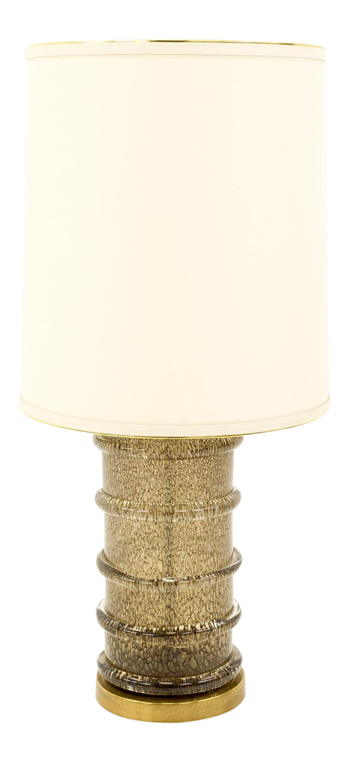 Paul Hanson Brass And Glass Mid Century Bubble Table Lamp Chairish
