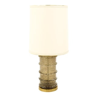 Paul Hanson Brass and Glass Mid Century Bubble Table Lamp For Sale
