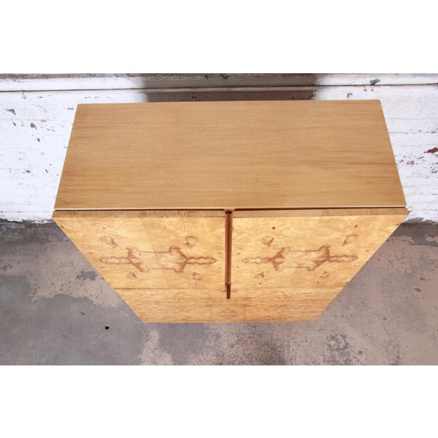 Mid-Century Modern Burl Wood Gentleman's Chest by Lane For Sale - Image 10 of 13
