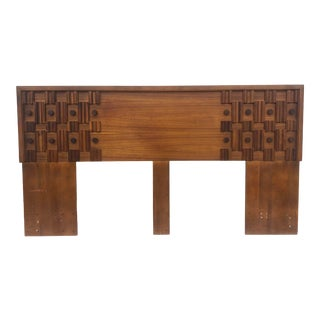 Mid-Century Modern King Size Headboard After Paul Evans For Sale