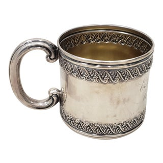 Late 19th Century Sterling Silver Christening Cup C.1896 For Sale