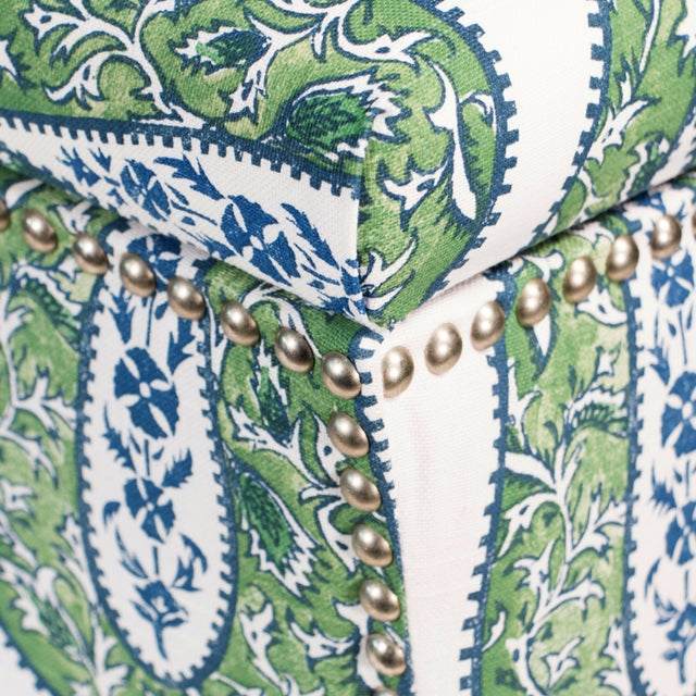 Not Yet Made - Made To Order Bindi Kelly Cotton Storage Ottoman For Sale - Image 5 of 7