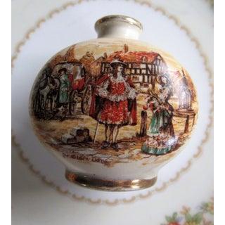 """Miniature Bottle Vase Antique Lancaster Sandland Ltd 2x2"""" Henley England """"Ye Olden Days"""" Preview"""