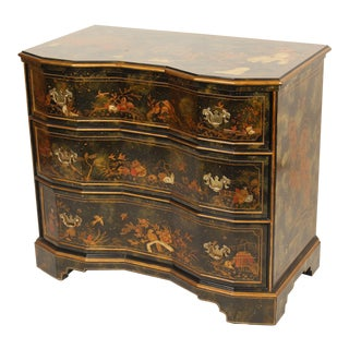 Chinoiserie Maitland Smith Decorated Chest of Drawers For Sale