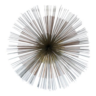 "Late 20th Century Curtis Jere ""Pom Pom"" Metal Wall Sculpture For Sale"