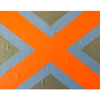 """2020 Donald Florence Abstract """"Orange X"""" Acrylic Painting For Sale"""