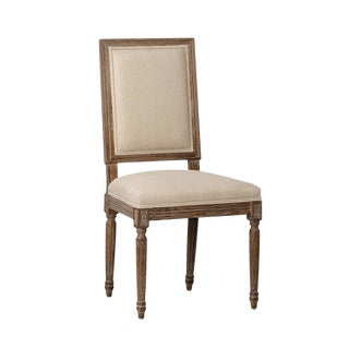 Grey Oak Upholstered Chair For Sale