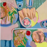 """Image of """"Neon Fries I"""" Contemporary Still Life Acrylic Painting by Kate Comen For Sale"""