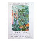 Image of Raoul Dufy 1969 Exhibition Poster, Garden Scene For Sale