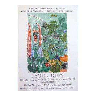Raoul Dufy 1969 Exhibition Poster, Garden Scene For Sale