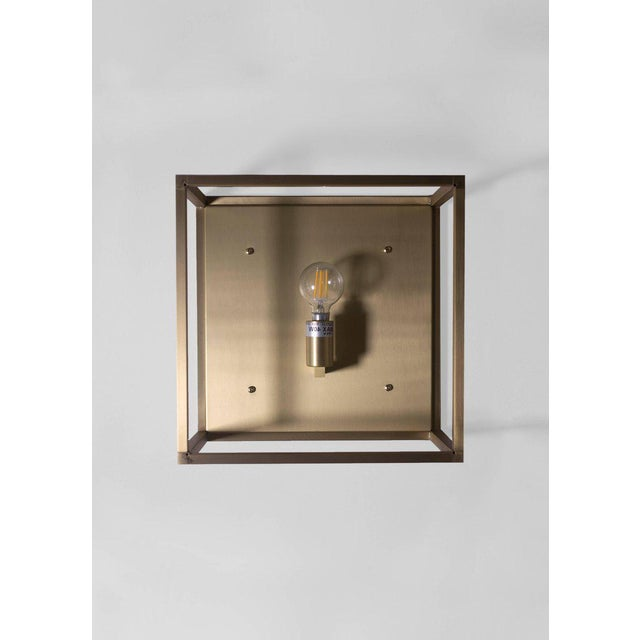 Contemporary Modern Contemporary 001a-S Flush Mount in Alabaster by Orphan Work For Sale - Image 3 of 3