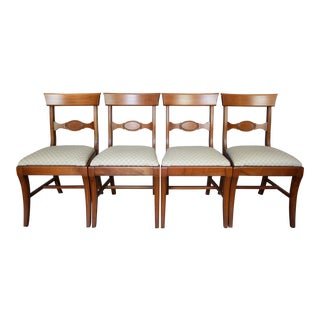 1950s Vintage Pennsylvania House Solid Cherry Dining Chairs - Set of 4 For Sale