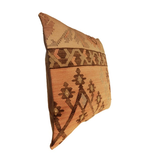 Old Turkish Tribal Kilim Pillow - Image 6 of 7