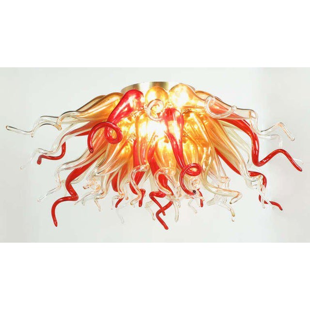 "Blown Glass 42"" Diameter Alger-Triton Sculptural Hand Blown Glass Chandelier For Sale - Image 7 of 10"