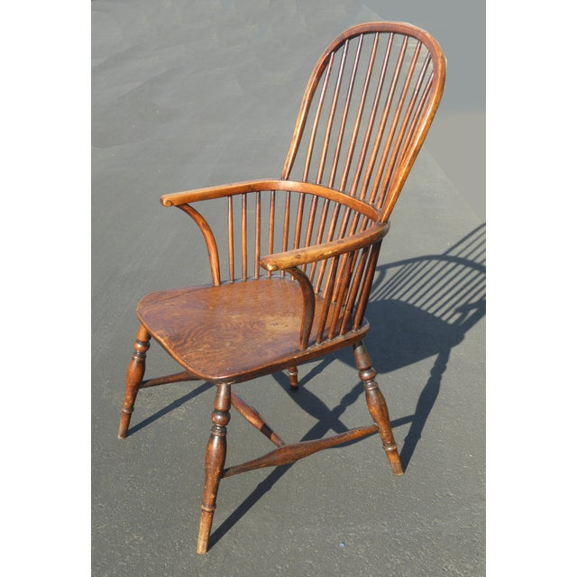 Awe Inspiring Early American Sack Back Windsor Accent Chair Andrewgaddart Wooden Chair Designs For Living Room Andrewgaddartcom