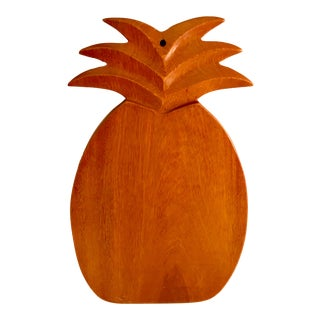 Boho Chic Pineapple Shaped Cutting Board or Wall Hanging For Sale
