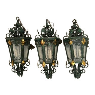 Moroccan Style Lanterns- Set of 3 For Sale