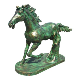 Cast Iron Horse Statue For Sale