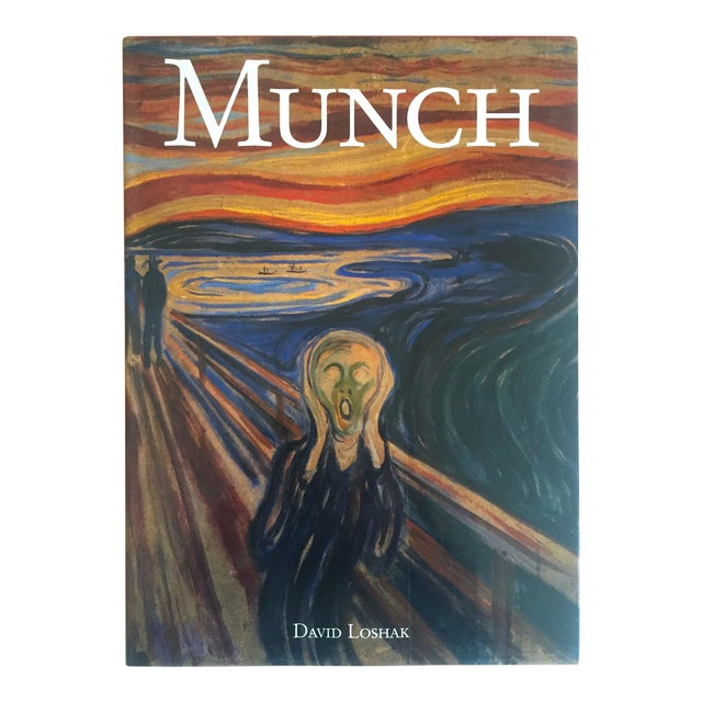 """"""" Munch """" First Edition Vintage 1990 Expressionist Hardcover Art Book For Sale"""