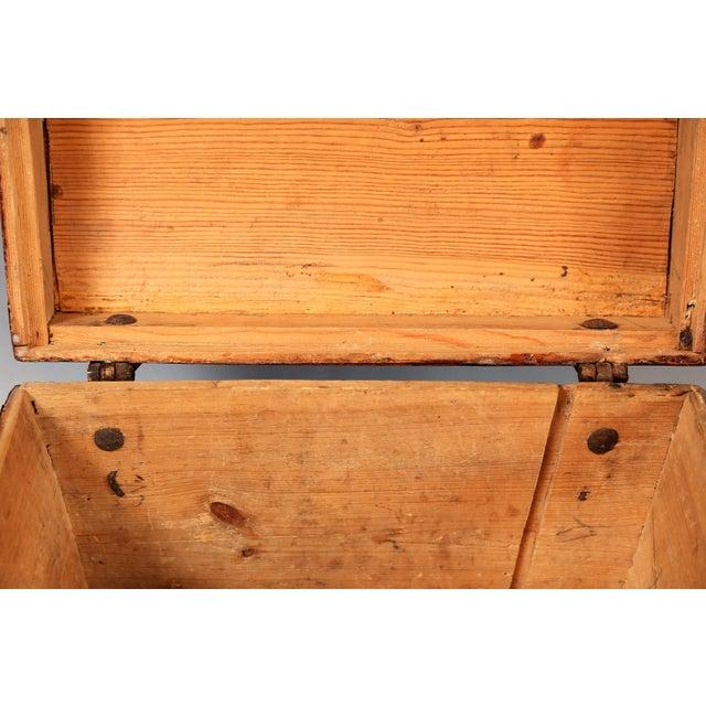 Antique Upsala Swedish Marriage Trunk / Box - Image 6 of 7