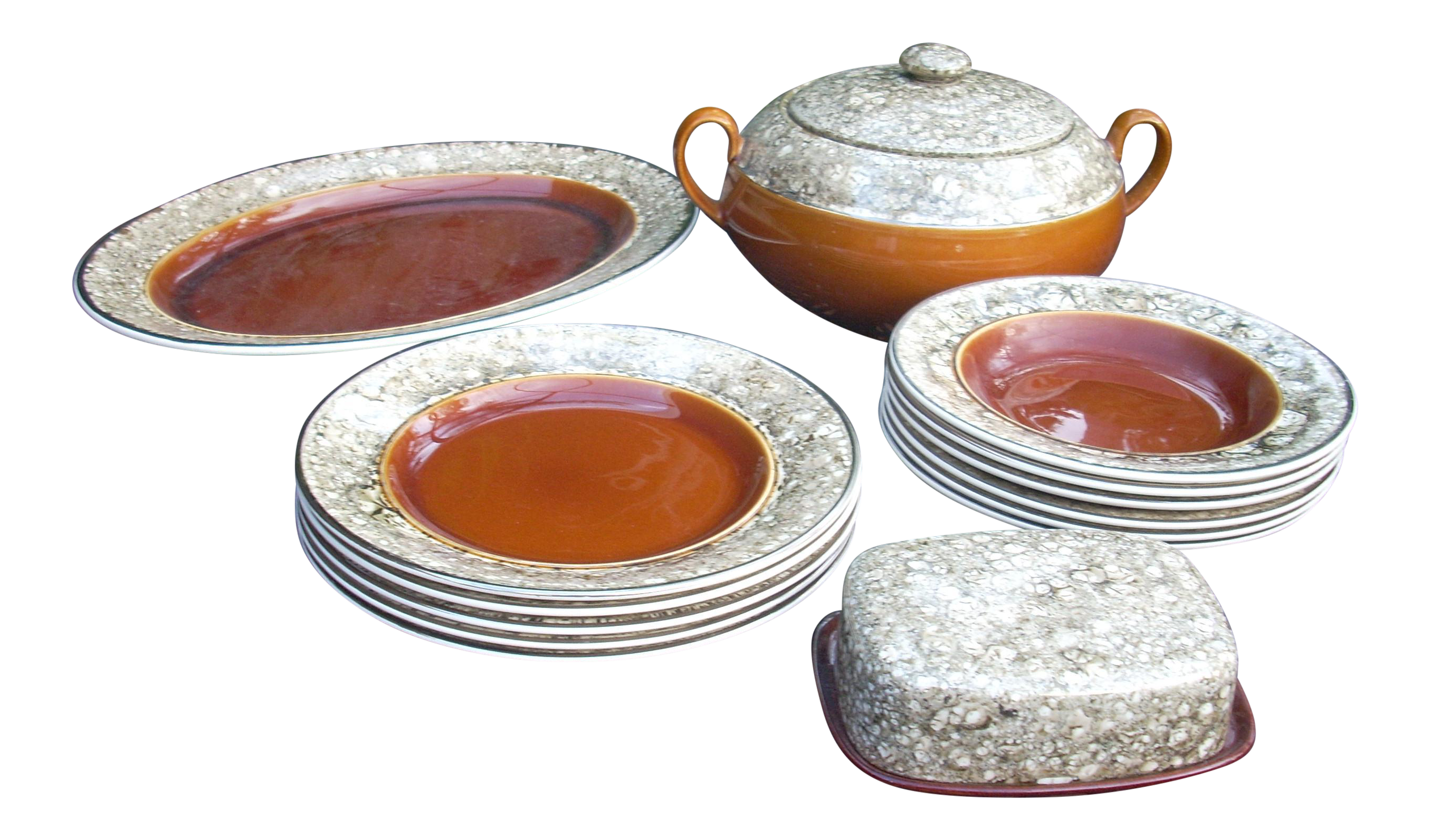 Lalins Country French Dinnerware - 14 Pieces - Image 1 of 5  sc 1 st  Chairish & Lalins Country French Dinnerware - 14 Pieces | Chairish