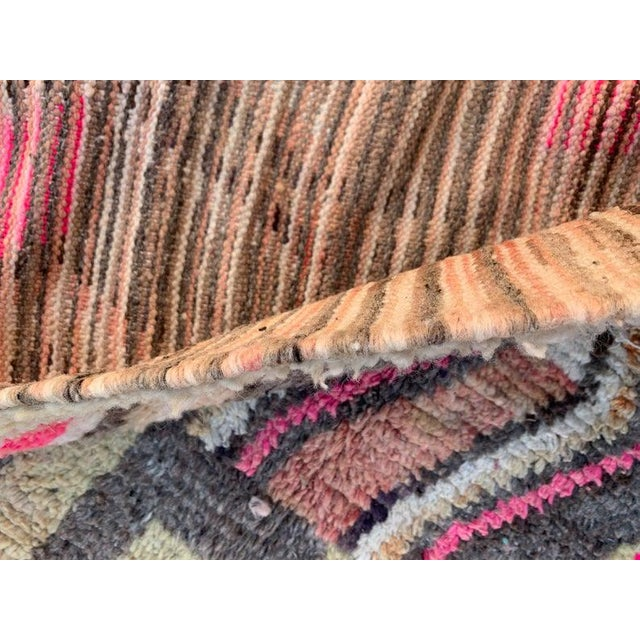 Abstract Berber Moroccan Rugs-5′10″ × 9′4″ For Sale - Image 3 of 9