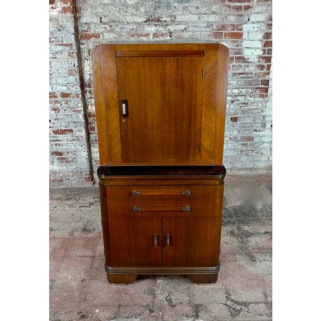 Art Deco Art Deco Original 1930s Walnut Dental Cabinet For Sale - Image 3 of 10