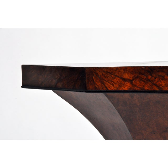 Wood Art Deco Pedestal Console Table For Sale - Image 7 of 11
