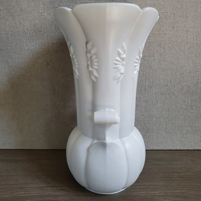 Vintage Art Deco style pottery vase by Abnigdon The vase is quite large and in excellent condition. The color is off...