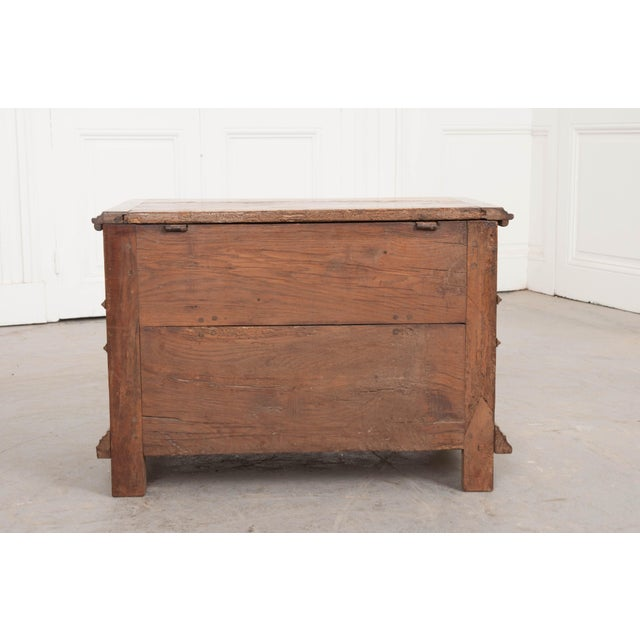 Metal 18th Century French Louis XIII Walnut Trunk For Sale - Image 7 of 12