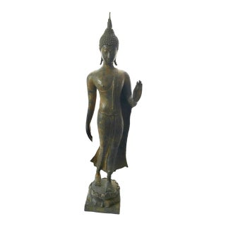 Early 20th Century Antique Standing Buddha Sculpture For Sale
