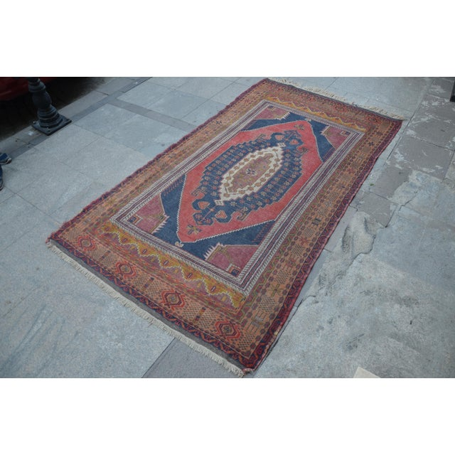 Vintage Turkish Oushak Carpet - 4′5″ × 8′ - Image 3 of 6