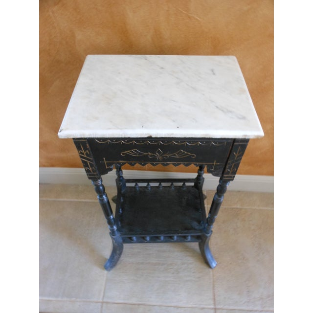 Antique Marble Top Stand - Image 3 of 4